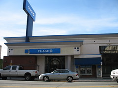 The newly renamed Chase Bank branch on Santa Clara Street in downtown San Jose