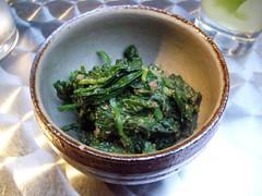 spinach w/ sesame paste @ sachiko's
