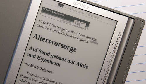 Die Financial Times Deutschland am Reader