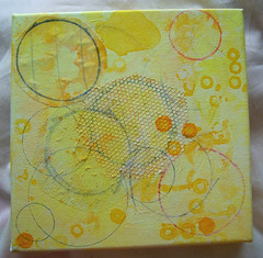 Yellow circle canvas, stage 2