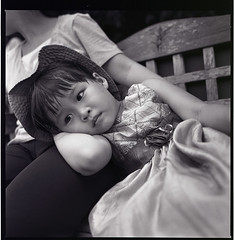 she is tired (S.H.CHOW) Tags: 6x6 zeiss mediumformat 50mm kodak iso400 hc110 hasselblad hp5 ilfordhp5plus400 ilford f4 285 distagon 500cm selfdeveloped hasselblad500cm kodakhc110 bathroomdevelopment 285c zeissdistagon50mmf4 10mins15sec