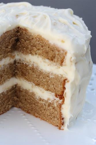 Chai Spice Cake Honey Ginger Cream