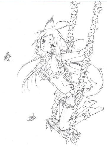 anime wolf girl. Manga wolf girl