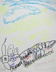 20090131-yoyo畫搭小火車