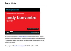 Bons Mots - from Andrew Bonventre - My speech from last week's Creative Morning has..._1239959355252