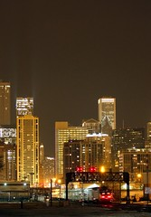 Racine Ave - Chicago, IL (capwell) Tags: city railroad chicago skyline night train canon eos lights illinois downtown skyscrapers trains signals metra racine prr chicagoil pennsy 40d racineavenue canoneos40d mp36 positionlightsignal pennsypositionlights