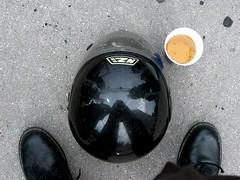 Helmi (Don Gru) Tags: black feet shoes helmet grau finepix fujifilm asphalt schuhe schwarz helm martens guessedvienna fse f200exr almdudlergspritzt