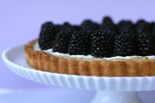 Blackberry Tart with Honey Mascarpone Filling
