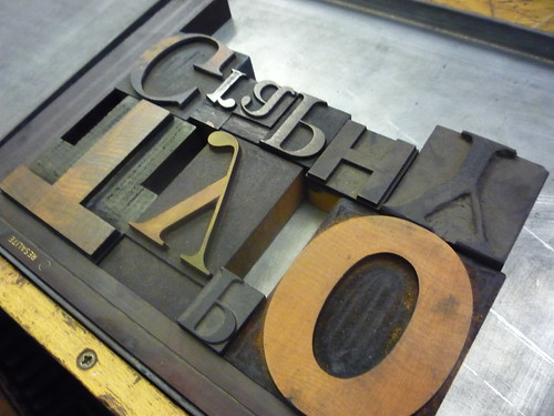 Letterpress course at CSM