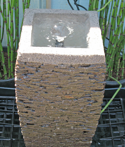 slate water fountain