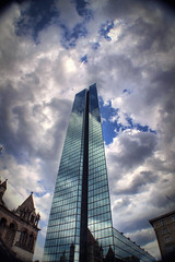 Up to the Sky (Werner Kunz) Tags: world city trip travel blue vacation sky urban usa cloud sun white holiday boston skyline clouds america photoshop lens ma us nikon unitedstates massachusetts urlaub north cyan newengland himmel wolken center american stadt northamerica blau amerika johnhancock sonne weiss ultrawide dri hdr hdri werner reise beantown metropole kunz d90 photomatix vereinigtestaaten nordamerika vereinigtestaatenvonamerika 20fav colorefex abigfave aplusphoto nikond90 thebestofday gnneniyisi topazadjust werkunz1