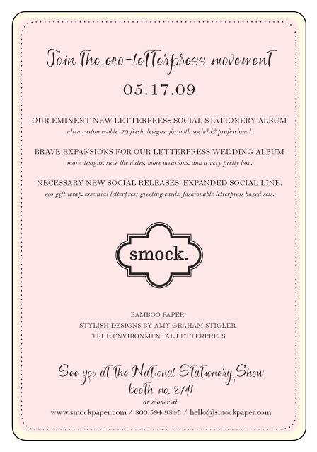 Smock - National Stationery Show Invitation