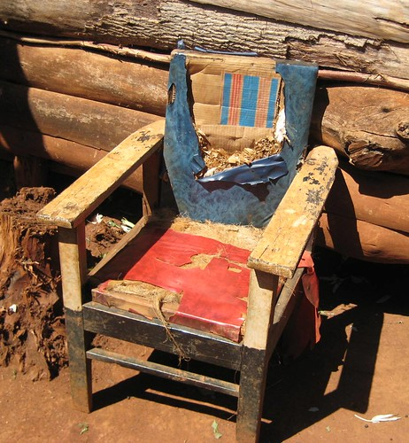 Home made African chair