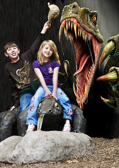 Day at the Zoo (Todd C. Yates) Tags: photoshop zoo raptor backgrounds mothersday woodlandparkzoo komodo woodlandpark kidspictures cs3 toddcyates komododraron replacebackgrounds