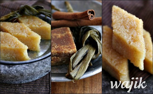 [Indonesian Food] wajik (diamond cake) collage