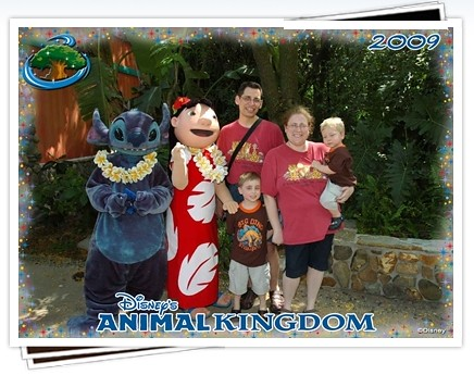 Family with Lilo and Stitch