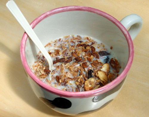 Granola with milk