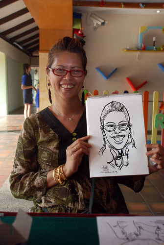 Caricature live sketching for Costa Sands Resort Pasir Ris Day 1 - 2