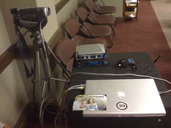 My Ustream webcasting setup