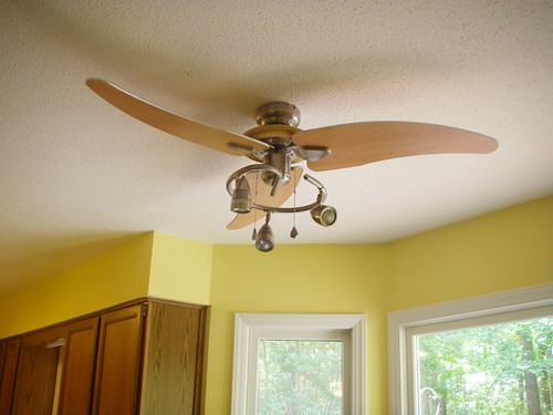 new modern ceiling fan and light