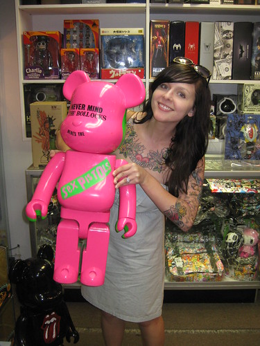 this bearbrick is almost as big as me!