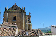 Ronda's Old Church II (cwgoodroe) Tags: summer costa white hot sol beach del bells spain ancient europe churches sunny bull bullfighter adobe ronda moors walls washed clothesline protective newbridge roda bullring stonebridge oldbridge spainish whitehilltown rondah spanishdoors