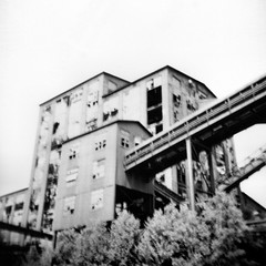 huber (Desolate Places) Tags: abandoned 120 film holga long exposure pennsylvania scan coal breaker huber coalcountry