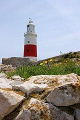 Gibraltar Lighthouse at Point Europa (cwgoodroe) Tags: ocean uk england costa sun lighthouse london castle sol beach beer del square airplane colorful europe wind gib military mosque bobby zane pint gibraltar runway policestation fishandchips territory instalation gibralter moneky fedra europapoint airtower angryfriar 3sheets zanelampry corgovesselsummer vesselcollision