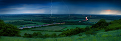 BadaBoom BadaBing! (Muddy Funkster) Tags: uk longexposure blue red panorama storm nature rain electric night clouds dark countryside rumble moody motorway wind dusk flash kaboom gap atmosphere lucky electricity winding headlight lightning breeze streaks bang current oxfordshire zap m40 30seconds revisited chinnor