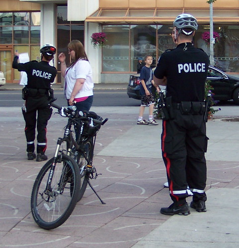 edm09g021 Churchill Square, Bike Police, Edmonton AB 2009