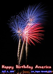 Red, White & Blue (Bill Gerrard (Primary Colors)) Tags: summer lasvegas fireworks nevada july4 independenceday mresort