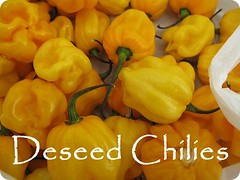 Deseed Chilies