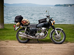 (themikepark) Tags: lake water bike honda motorcycle touring boyne k4 cb750 boynecity lakecharlevoix