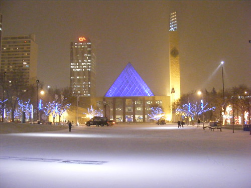 Edmonton City Hall in Winter