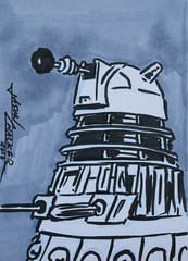 Dalek Sketch Card
