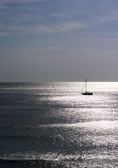 A sea of silver (annfrau) Tags: sardegna light sea seascape silver boat barca mare sardinia sailing luce argento navigare sgiovannidisinis