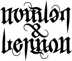 """Marlon"" & ""Lennon"" Ambigram, his"