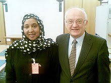 Hon. Fadumo Suudi Hassan. Former Somaliland Minister for Family Affairs and Hon. Bob McMullan. Parliamentary Secretary for International Development Assistance in Canberra 2010.