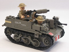 "Canadian Universal Carrier Mk.II ""Italia Finito"" (""Rumrunner"") Tags: infantry army gun lego brodie wwii helmet machine lewis canadian 2nd ww2 decal universal waterslide custom carrier bren worldwar2 brigade mkii allies vickers armoured brickarms brickmania"