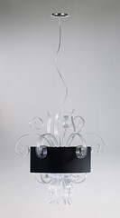 "4088 LUCITE CURLS CHANDELIER WITH BLACK SHADE • <a style=""font-size:0.8em;"" href=""http://www.flickr.com/photos/43749930@N04/5815728011/"" target=""_blank"">View on Flickr</a>"