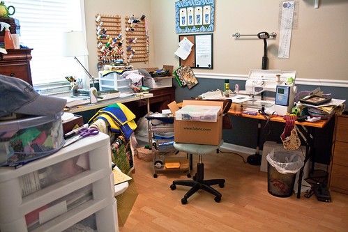 Sewing Studio Before Cleanup