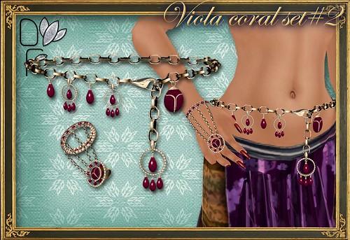 VIOLA coral set#2