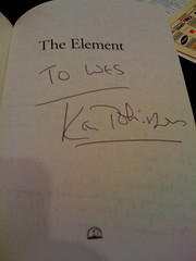"My autographed copy of Sir Ken Robinson's new book ""The Element"""