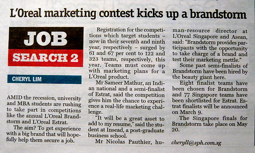 INSEAD student Sameer Mathur, interviewed on L'Oreal marketing contest