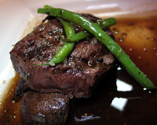 Char-Grilled Prime Beef Tenderloin with Marinated Portobello and a Winter Truffle Madeira Demi-Glace