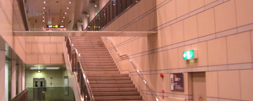 Stairs in an Osaka Train Station