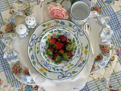 Breakfast in Bed (teacup mosaics) Tags: china plates breakfastinbed herend teacupmosaics