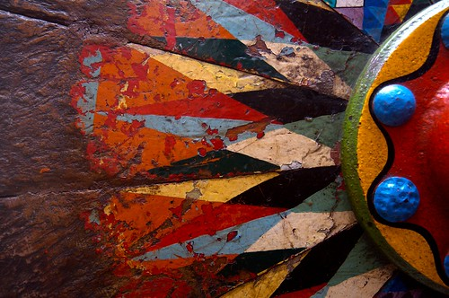 hand painted wooden Oxcart Wheel/ central highlands, Costa Rica/IMG_0366.CR2