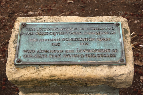 Pere Marquette State Park, in Grafton, Illinois, USA - Civilian Conservation Corps plaque