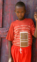 Emergency Unit (LindsayStark) Tags: africa travel boy red portrait children war child refugee conflict somali ethiopia humanrights humanitarian somalia displaced refugeecamp humanitarianaid emergencyrelief postconflict waraffected conflictaffected